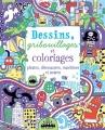 Couverture Dessins, gribouillages et coloriages pirates, dinosaures, machines et autres Editions Usborne 2015