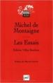 Couverture Les essais / Essais Editions Presses universitaires de France (PUF) (Quadrige - Grands textes) 2004