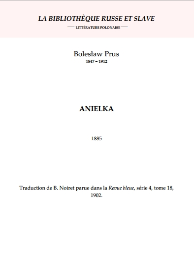 Couverture Anielka