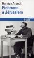 Couverture Eichmann à Jérusalem Editions Folio  (Histoire) 2015