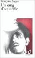 Couverture Un sang d'aquarelle Editions Folio  1989