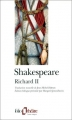 Couverture Richard II Editions Folio  (Théâtre) 1998