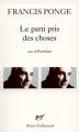 Couverture Le parti pris des choses Editions Gallimard  (Poésie) 1926