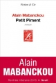 Couverture Petit Piment Editions Seuil 2015