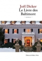 Couverture Le Livre des Baltimore Editions de Fallois 2015