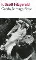 Couverture Gatsby le magnifique Editions Folio  2013