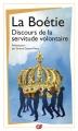 Couverture Discours de la servitude volontaire Editions Flammarion (GF) 2015