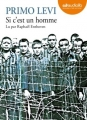 Couverture Si c'est un homme Editions Audiolib 2015