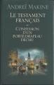 Couverture Le Testament français Editions France Loisirs 1996