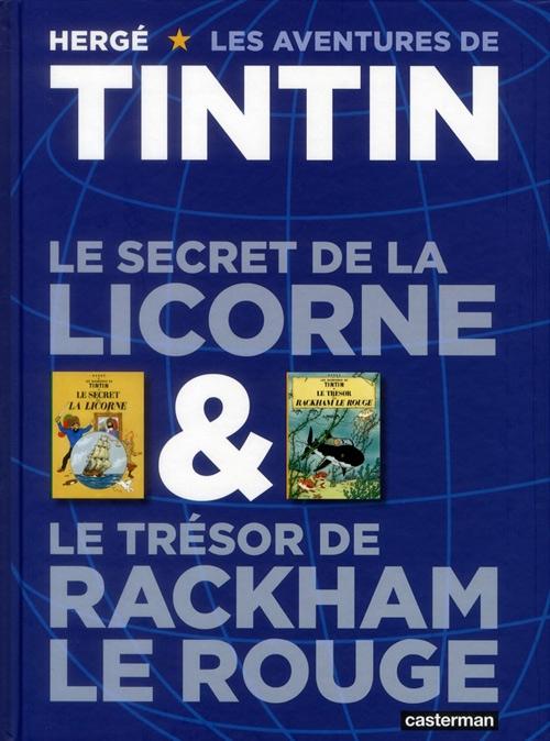 Couverture Les aventures de Tintin (France Loisirs), tome 06 : Le secret de la Licorne, Le trésor de Rackham le Rouge