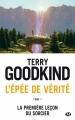 Couverture L'épée de vérité, tome 01 : La première leçon du sorcier Editions Milady 2015