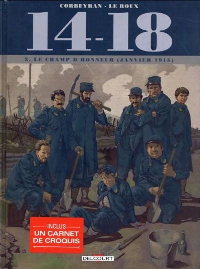 Couverture 14-18, tome 3 : Le Champ d'Honneur (janvier 1915)