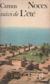 Couverture Noces suivi de L'été Editions Folio  1959