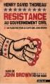 Couverture La désobéissance civile Editions Nautilus 2011