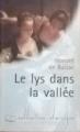 Couverture Le lys dans la vallée Editions Carrefour 1998
