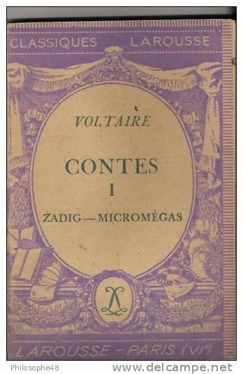 Couverture Contes, tome 1 : Zadig, Micromégas