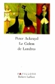 Couverture Le golem de Londres Editions Robert Laffont 1996