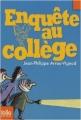 Couverture Enquête au collège Editions Folio  (Junior) 2009