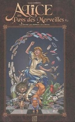 Couverture Alice au Pays des Merveilles (Comics), tome 2 : De l'autre côté du miroir