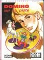 Couverture Domino sur la piste Editions Hachette (Bibliothèque Rose) 1975