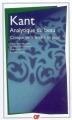 Couverture Analytique du beau Editions Flammarion (GF) 2008