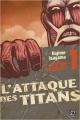 Couverture L'Attaque des Titans, triple, tome 01 Editions Pika (Seinen) 2015