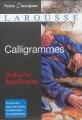 Couverture Calligrammes Editions Larousse (Petits classiques) 2014