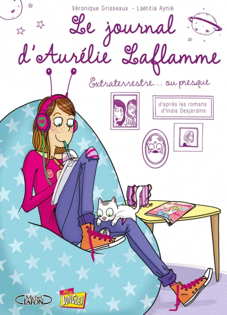 Couverture Le Journal d'Aurélie Laflamme (BD), tome 1 : Extraterrestre... ou presque !