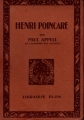 Couverture Henri Poincaré Editions Plon 1925