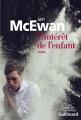 Couverture L'intérêt de l'enfant Editions Gallimard  (Du monde entier) 2015