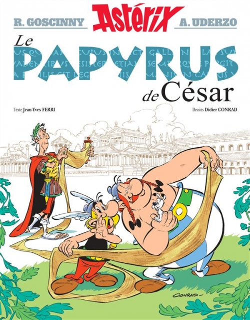 Couverture Astérix, tome 36 : Le papyrus de César