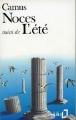 Couverture Noces suivi de L'été Editions Folio  1989