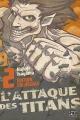 Couverture L'Attaque des Titans, triple, tome 02 Editions Pika (Seinen) 2015