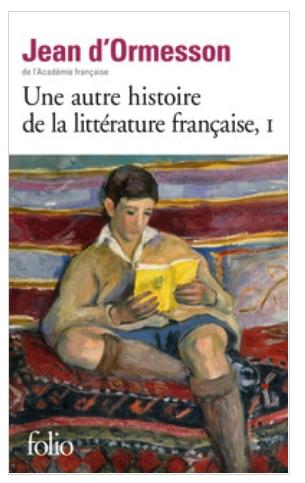Couverture Une autre histoire de la littérature française, tome 1