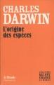 Couverture L'origine des espèces Editions Flammarion / Le Monde (Les livres qui ont changés le monde ) 2009