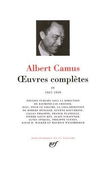 Couverture Oeuvres complètes, tome 4 : 1957-1959