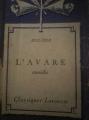 Couverture L'Avare Editions Larousse (Classiques) 1933