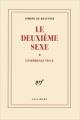 Couverture Le deuxième sexe, tome 2 : L'expérience vécue Editions Gallimard  (Blanche) 1949