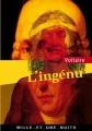 Couverture L'ingénu  Editions Mille et une nuits 2001