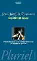 Couverture Du contrat social Editions Hachette (Pluriel) 2005