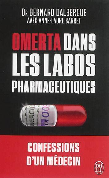 Couverture Omerta dans les labos pharmaceutiques