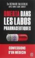 Couverture Omerta dans les labos pharmaceutiques Editions J'ai Lu (Document) 2015