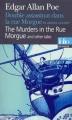 Couverture Double assassinat dans la rue Morgue et autres contes Editions Folio  1996