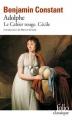 Couverture Adolphe, Le Cahier rouge, Cécile Editions Folio  (Classique) 2005