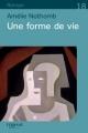 Couverture Une forme de vie Editions Feryane 2011