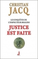 Couverture Les enquêtes de l'inspecteur Higgins, tome 20 : Justice est faite Editions J 2016