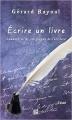 Couverture Ecrire un livre Editions TDO 2011