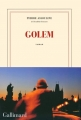 Couverture Golem Editions Gallimard  (Blanche) 2016