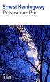 Couverture Paris est une fête Editions Folio  2015