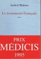 Couverture Le testament français Editions Mercure de France 1995